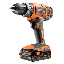 ridgid cordless tools. ridgid 18-volt cordless lithium-ion 1/2 in. compact drill/driver kit with (1) 1.5ah battery and charger-r860052sbn - the home depot ridgid tools