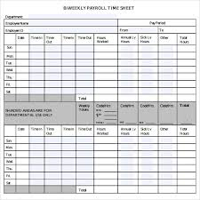 Sample Biweekly Timesheet. Bi Weekly Timesheet Template. Sample ...