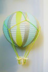 diy hot air balloon from paper lantern