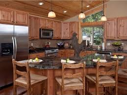Image Interior Rustic Country Kitchen In Wood Tones With Eat In Dining Designing Idea 47 Beautiful Country Kitchen Designs pictures Designing Idea