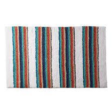 the company rainbow stripe multi 21 in x 34 in cotton bath rug