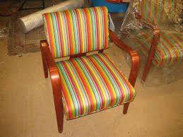 Modern Chair after Furniture Refinishing and Reupholstery