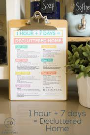 1 hour 7 days to declutter your home is all it takes