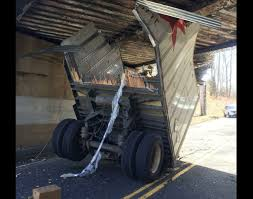 FedEx truck obliterated by New Jersey bridge crash
