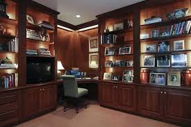 bookcases with glass doors office