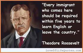 Immigration Quotes Mesmerizing Immigration Quotestheodore Roosevelt Quote On Immigrantsjpg