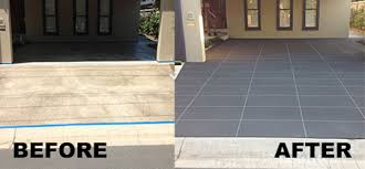 stencil concrete driveway resurfacing