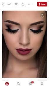 bold wedding day makeup in deep mauve shades perfect for a fall wedding