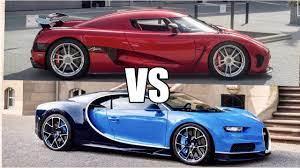 2011 bugatti veyron super sport vs. Cool 1140hp Koenigsegg Agera R Vs 1500hp Bugatti Chiron World S Fastest Car Auto