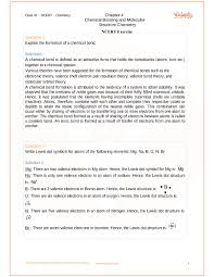 NCERT Solutions for Class 11 Chemistry Chapter 4 Chemical Bonding ...