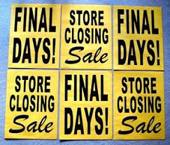 6 Paper Window Signs Store Closing Sale Final Days Black On
