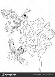 Kleurplaat Bijen Mandala Pasen