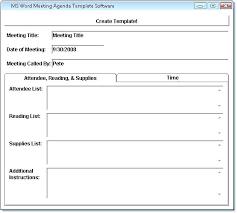 Word Meeting Agenda Template Templates Free Sample Example Microsoft ...