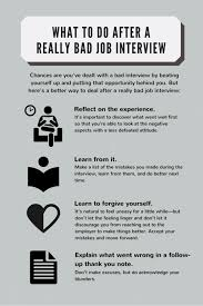 What To Do After A Really Bad Job Interview In Photos What To Do