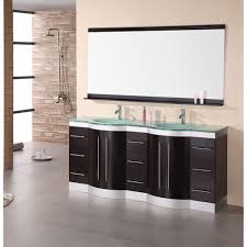 design element jade 72 double sink vanity set w tempered glass countertop espresso free modern bathroom