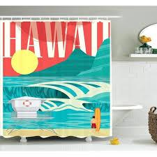 hawaiian shower curtain tropical holiday coast shower curtain set hawaiian shower curtain
