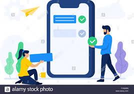 App Developer And Designer Vector Illustration Of People Build Mobile Apps Creative