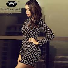 NewAsia Garden <b>Plaid Sequin Dress</b> Women ELegant <b>Party Dress</b> ...