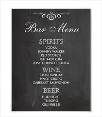 Restaurant Menu Format Free Free Pub Menu Templates