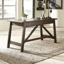 ashley furniture baldridge home office large leg desk in rustic brown