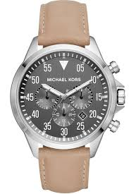 michael kors gage men s chronograph black dial brown leather watch mk8616