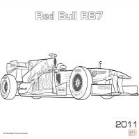 Kleurplaat Raceauto Red Bull Coloriage Voiture De Formule