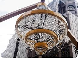 if a city happens to build an even larger outdoor chandelier cleveland s can be called the world s largest outdoor chandelier adjacent to a building that