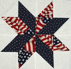 Starflower Quilt Blocks - Patriotic Flag and Star Prints | Star ... & Starflower Quilt Blocks - Patriotic Flag and Star Prints Adamdwight.com