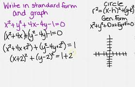 going from general to standard form of a circle