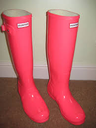 Hunter Wellies Womens Size 6 Festival Fluoro 2011 Neon Pink
