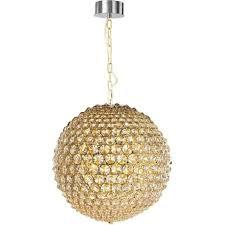 milano 9 light large ceiling pendant in gold and clear crystal finish