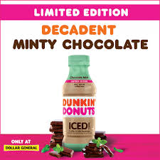 Freshly crafted beverages (including tea, hot chocolate, and chai) served hot or cold in a variety of delicious flavors. Dunkin On Twitter Introducing Dunkin Chocolate Mint Iced Coffee A Decadent Mix Of Rich Chocolate And Cool Mint Flavors Exclusively Dollargeneral For A Limited Time Get Yours Before They Re Gone Dollargeneral
