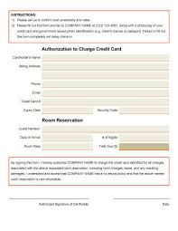 Credit Card Release Form Credit Card Authorization Forms Hloom Com