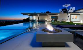 view modern house lights. Contemporary Dream Villa California Swimming Pit Mansion America Pool High Modern Lights Los Angeles Sunset Infinity Usa House View Dual Monitor Background