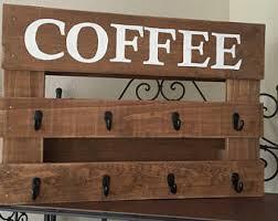 reclaimed wood mug rack urban rustic. Coffee Mug Rack Reclaimed Wood Urban Rustic N