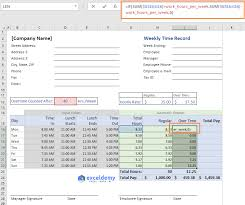 Excel Overtime Formula Excel Formula To Calculate Hours Worked And Overtime With
