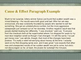 cause and effect essay winning the lottery world war causes cause and effect essay topics