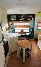 Camper interior decorating ideas Travel Trailer 5th Wheel Camper Makeover Kitchen And Dining Area Mobile Home Living Camper Decorating Ideas Lauras 5th Wheel Makeover Mobile Home Living