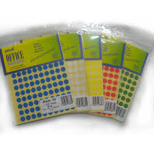 Yellow Office Pauli Office Round Labels 10mm Yellow Pkt 10s