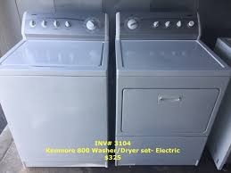 kenmore washer dryer set. Contemporary Washer INV 3104 Kenmore 800 WasherDryer Set Electric 325 Plus Tax On Washer Dryer Set D