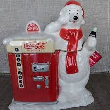 Coke Polar Bear In Bottle Vending Machine Best Cookie Jars Canisters CocaCola Soda Advertising Collectibles