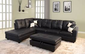 black sectional sofa for under 1 000