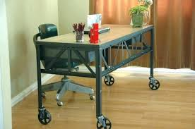 office table with wheels. office desk on wheels with home furniture table e