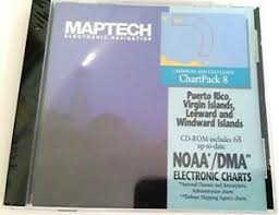 Details About Maptech Chartpack 8 Electronic Charts Puerto Rico Vi Leeward Windward Is New