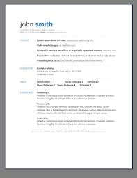 Resume Template Example Easy Builder Online Free Printable