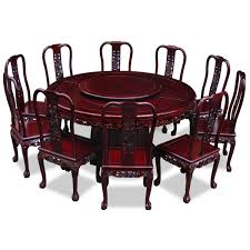 Rosewood Dining Table Rosewood Imperial Dragon Design Round Dining Table With 10 Chairs
