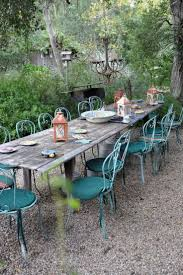rustic outdoor dining table. Penelope Bianchi\u0027s Home In Santa Barbara - Wonderfully Rustic Outdoor Dining Area Table 0