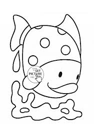 Small Picture Cute Tropical Fish coloring page for kids animal coloring pages