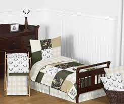 green and beige deer buffalo plaid check woodland camo boy toddler kid childrens bedding set by sweet jojo designs 5 pieces comforter sham and sheets