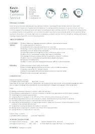 Resume Examples Customer Service Job Accomplishments For Description